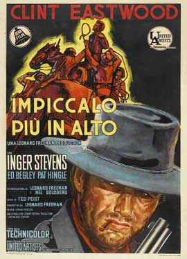 Hang 'Em High - 11 x 17 Movie Poster - Italian Style A