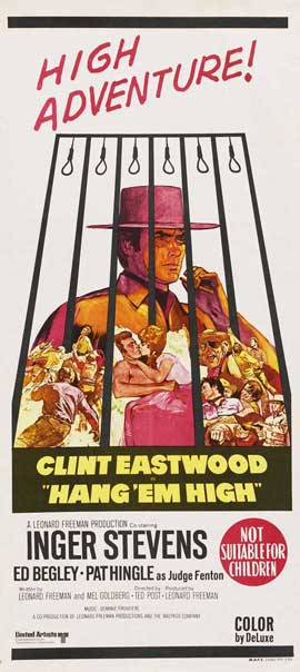 Hang 'Em High - 13 x 30 Movie Poster - Australian Style A