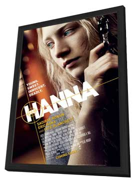 Hanna - 11 x 17 Movie Poster - Style C - in Deluxe Wood Frame