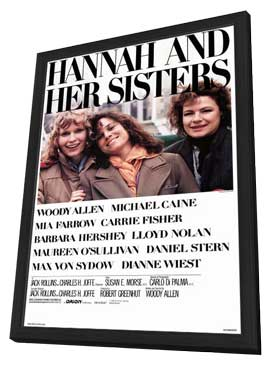 Hannah and Her Sisters - 27 x 40 Movie Poster - Style A - in Deluxe Wood Frame