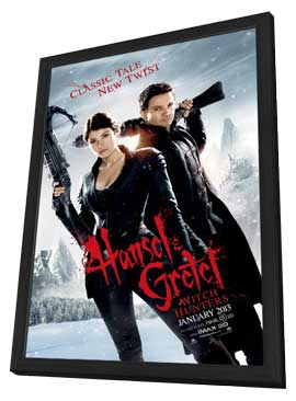Hansel & Gretel: Witch Hunters - 27 x 40 Movie Poster - Style B - in Deluxe Wood Frame