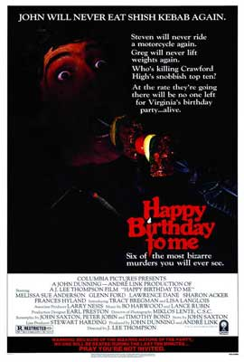 Happy Birthday to Me - 27 x 40 Movie Poster - Style A