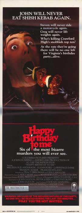 Happy Birthday to Me - 11 x 17 Movie Poster - Style B