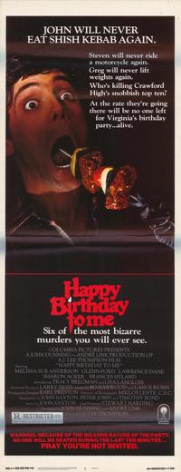 Happy Birthday to Me - 14 x 36 Movie Poster - Insert Style A
