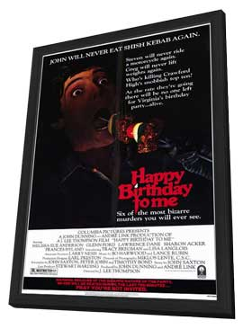 Happy Birthday to Me - 11 x 17 Movie Poster - Style A - in Deluxe Wood Frame