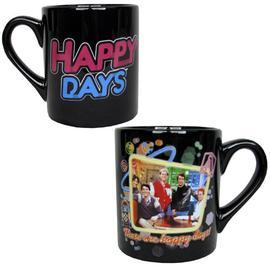 Happy Days - Cast Portrait Black Mug