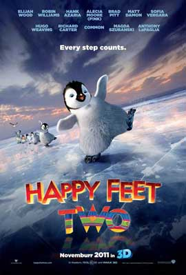 Happy Feet 2 in 3D - 11 x 17 Movie Poster - Style B