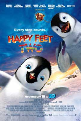Happy Feet 2 in 3D - 27 x 40 Movie Poster - Style B