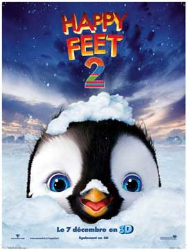Happy Feet 2 in 3D - 27 x 40 Movie Poster - French Style A
