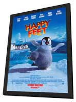 Happy Feet - 11 x 17 Movie Poster - Style F - in Deluxe Wood Frame