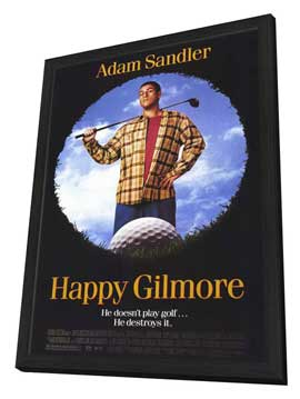 Happy Gilmore - 11 x 17 Movie Poster - Style A - in Deluxe Wood Frame
