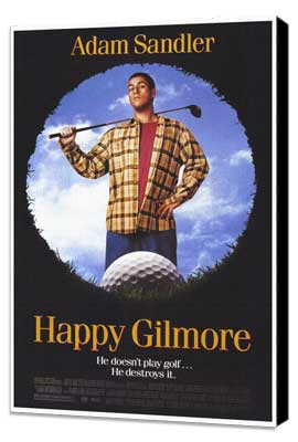 Happy Gilmore - 27 x 40 Movie Poster - Style A - Museum Wrapped Canvas