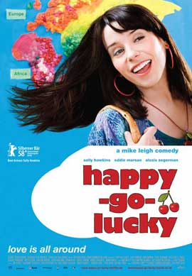 Happy-Go-Lucky - 11 x 17 Movie Poster - Swiss Style A