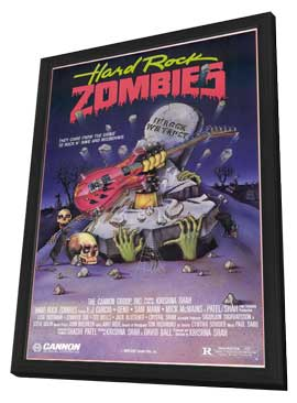 Hard Rock Zombies - 11 x 17 Movie Poster - Style A - in Deluxe Wood Frame