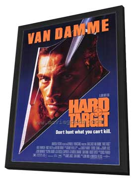 Hard Target - 11 x 17 Movie Poster - Style A - in Deluxe Wood Frame