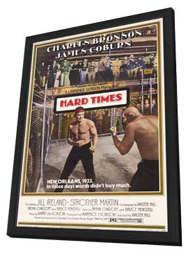 Hard Times - 27 x 40 Movie Poster - Style B - in Deluxe Wood Frame