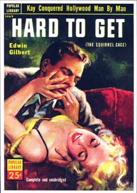 Hard to Get - 11 x 17 Retro Book Cover Poster