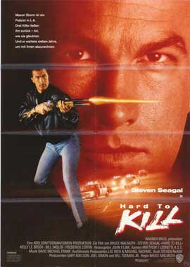 Hard to Kill - 27 x 40 Movie Poster - German Style A