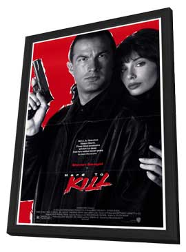 Hard to Kill - 27 x 40 Movie Poster - Style A - in Deluxe Wood Frame
