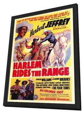 Harlem Rides the Range - 11 x 17 Movie Poster - Style A - in Deluxe Wood Frame