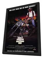 Harley Davidson and the Marlboro Man - 11 x 17 Movie Poster - Style C - in Deluxe Wood Frame