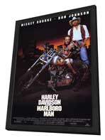 Harley Davidson and the Marlboro Man - 27 x 40 Movie Poster - Style A - in Deluxe Wood Frame