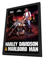 Harley Davidson and the Marlboro Man - 27 x 40 Movie Poster - Style B - in Deluxe Wood Frame
