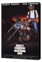 Harley Davidson and the Marlboro Man - 27 x 40 Movie Poster - Style A - Museum Wrapped Canvas
