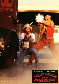 Harley Davidson and the Marlboro Man - 11 x 14 Poster German Style E