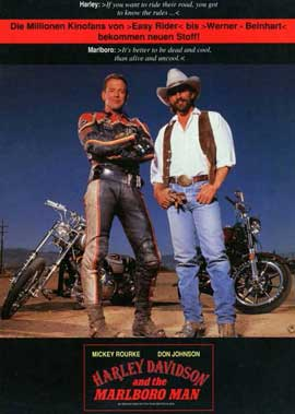 Harley Davidson and the Marlboro Man - 11 x 17 Movie Poster - German Style A