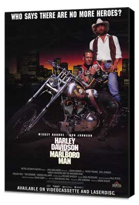 Harley Davidson and the Marlboro Man - 11 x 17 Movie Poster - Style C - Museum Wrapped Canvas