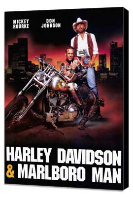 Harley Davidson and the Marlboro Man - 27 x 40 Movie Poster - Style B - Museum Wrapped Canvas