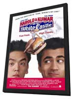 Harold and Kumar Go to White Castle - 11 x 17 Movie Poster - Style A - in Deluxe Wood Frame