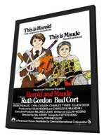 Harold and Maude - 27 x 40 Movie Poster - UK Style A - in Deluxe Wood Frame