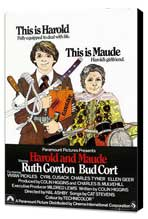 Harold and Maude - 11 x 17 Movie Poster - UK Style A - Museum Wrapped Canvas