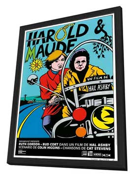 Harold and Maude - 11 x 17 Movie Poster - French Style A - in Deluxe Wood Frame
