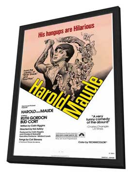 Harold and Maude - 27 x 40 Movie Poster - Style A - in Deluxe Wood Frame