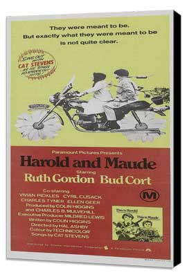 Harold and Maude - 20 x 40 Movie Poster - Style A - Museum Wrapped Canvas