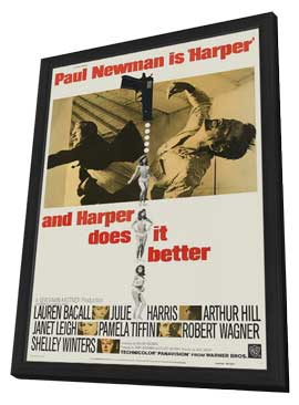 Harper - 11 x 17 Movie Poster - Style C - in Deluxe Wood Frame