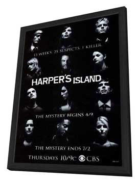 Harpers Island (TV) - 11 x 17 TV Poster - Style A - in Deluxe Wood Frame
