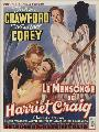 Harriet Craig - 11 x 17 Movie Poster - Belgian Style A