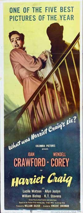 Harriet Craig - 14 x 36 Movie Poster - Insert Style A