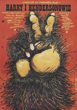 Harry and the Hendersons - 11 x 17 Movie Poster - Polish Style A