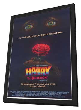 Harry and the Hendersons - 11 x 17 Movie Poster - Style A - in Deluxe Wood Frame