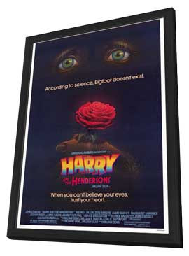 Harry and the Hendersons - 27 x 40 Movie Poster - Style A - in Deluxe Wood Frame