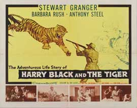 Harry Black and the Tiger - 22 x 28 Movie Poster - Half Sheet Style A