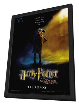 Harry Potter and the Chamber of Secrets - 11 x 17 Movie Poster - Style L - in Deluxe Wood Frame