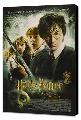 Harry Potter and the Chamber of Secrets - 11 x 17 Movie Poster - Style K - Museum Wrapped Canvas