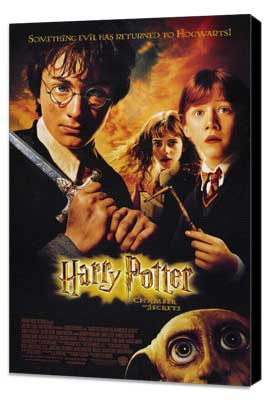 Harry Potter and the Chamber of Secrets - 27 x 40 Movie Poster - Style A - Museum Wrapped Canvas