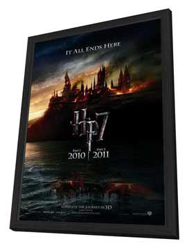 Harry Potter and the Deathly Hallows: Part I - 27 x 40 Movie Poster - Style B - in Deluxe Wood Frame